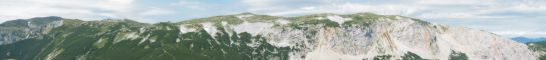 Panorama části Raxu z Preineru