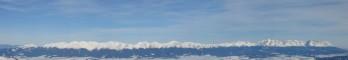 Panoráma Západních a Vysokých Tater z vrcholu Ďumbieru