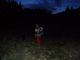 Téměř tma při cestě do sedla Prislop