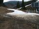 Konec sněhu pod sjezdovkou v Lalikách